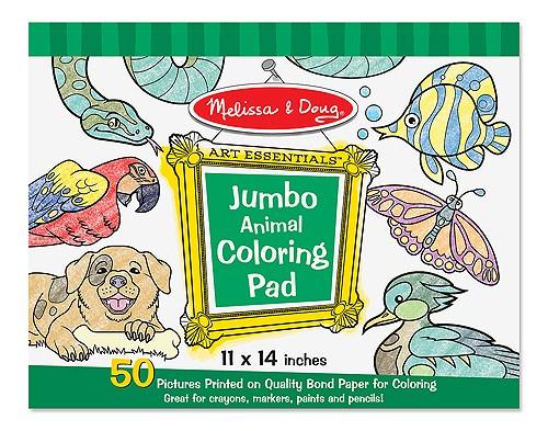 Caiet jumbo cu planse pentru colorat Animale Melissa and Doug 2