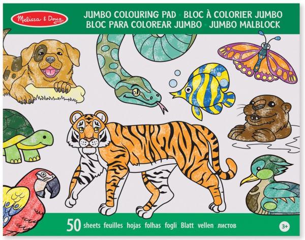 Caiet jumbo cu planse pentru colorat Animale Melissa and Doug 1
