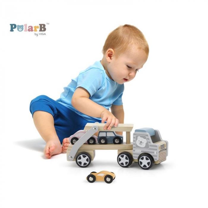 Camion transportor cu 3 masinute, PolarB Viga 3