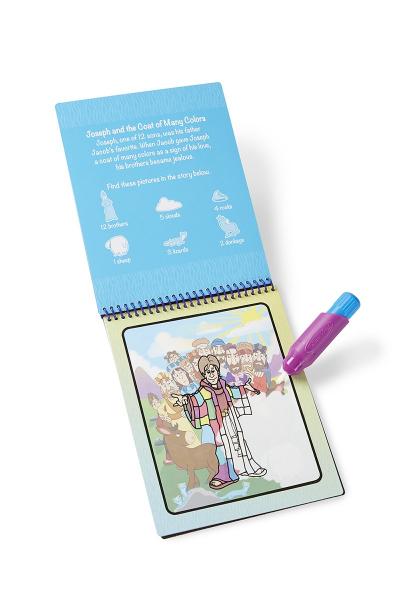 Carnet de colorat Apa Magica cu Povesti din Biblie - Melissa and Doug 0