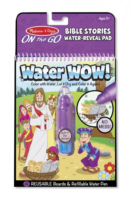 Carnet de colorat Apa Magica cu Povesti din Biblie - Melissa and Doug 3