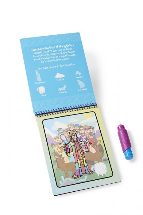 Carnet de colorat Apa Magica cu Povesti din Biblie - Melissa and Doug 5