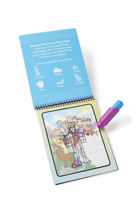Carnet de colorat Apa Magica cu Povesti din Biblie - Melissa and Doug 4