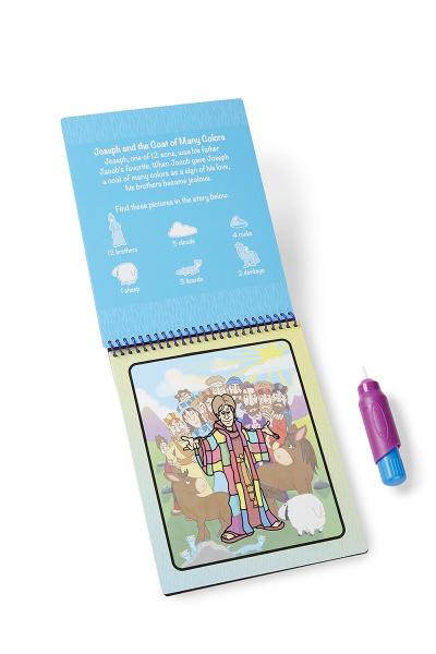 Carnet de colorat Apa Magica cu Povesti din Biblie - Melissa and Doug 1