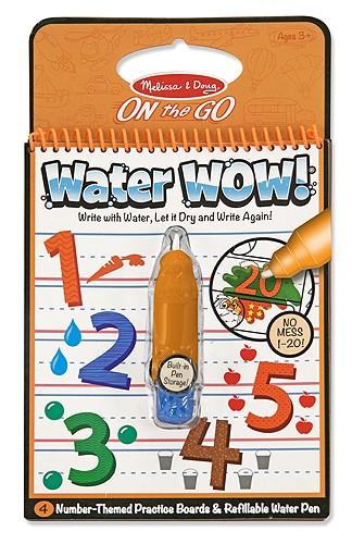 Carnet de colorat Apa magica Numerele Melissa and Doug 1