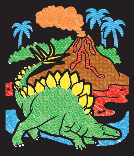 Carnet de colorat Catifeaua magica Dinozauri Melissa and Doug 0
