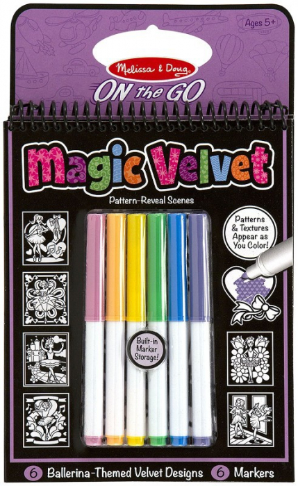 Carnet de colorat Catifeaua magica Fluturi si Flori Melissa and Doug 1