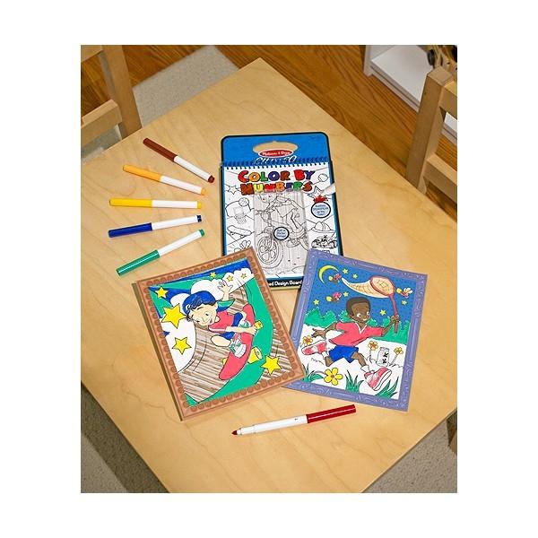 Carnet de colorat pe numere Melissa and Doug Albastru 2