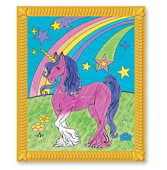 Carnet de colorat pe numere pentru fetite Melissa and Doug 1