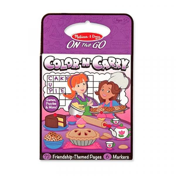 Carnet de colorat pentru calatorie Prietenii se distreaza Melissa and Doug 0