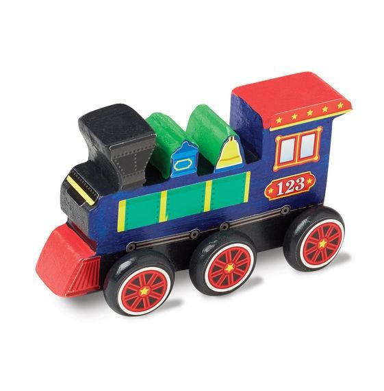 Coloreaza-ti locomotiva din lemn Melissa and Doug 1