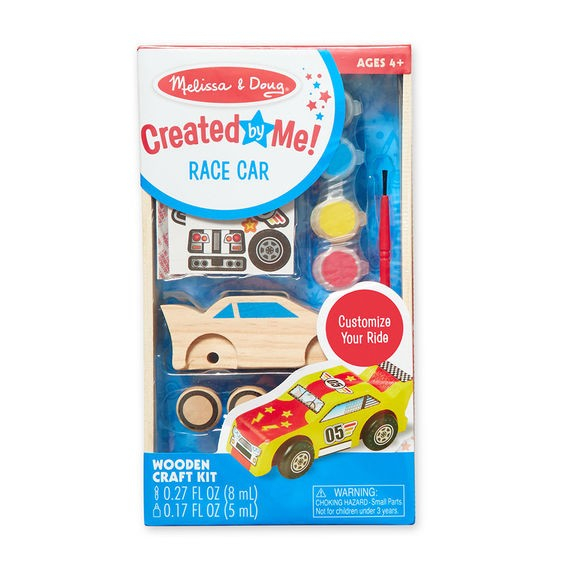 Coloreaza-ti masinuta de curse din lemn Melissa and Doug 1