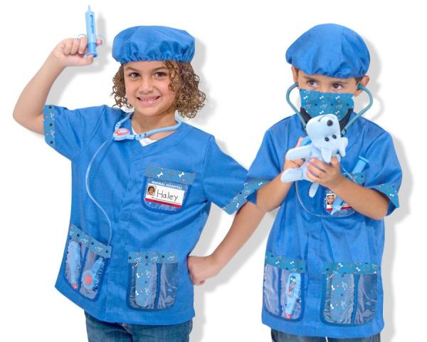Costum carnaval copii Medic Veterinar Melissa and Doug 0
