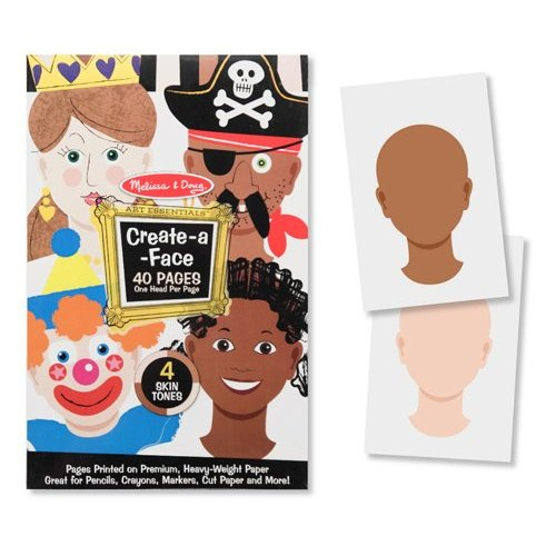Creaza portrete Bloc de desen cu portrete predesenate Melissa and Doug 1