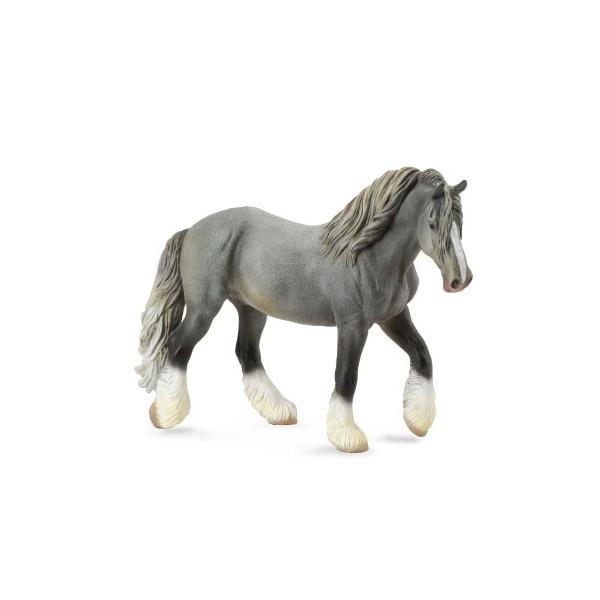 Figurina Cal Mare Gri Shire XL Collecta 3