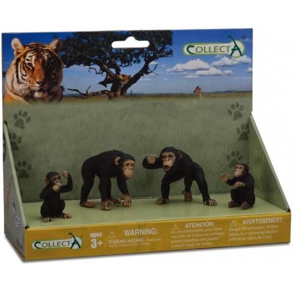 Figurina Familia Cimpanzeilor Collecta 0