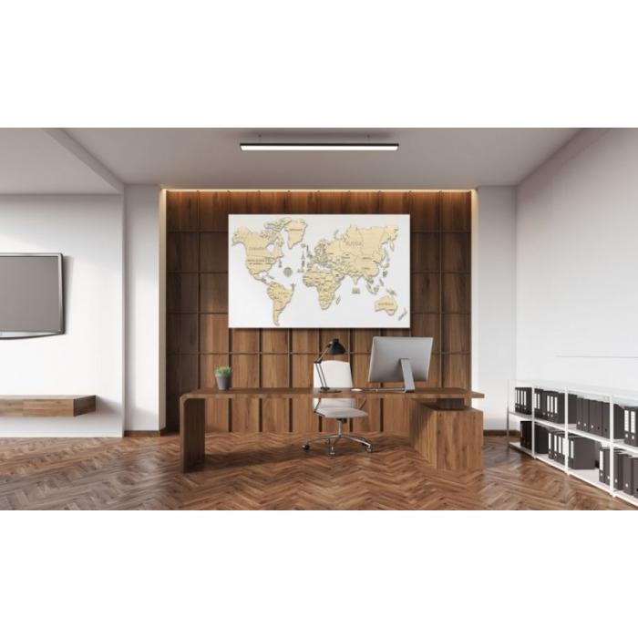 Harta lumii puzzle 3D de perete (XL) 2