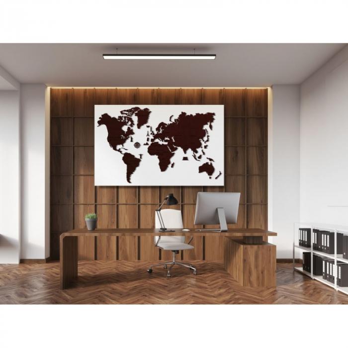 Harta lumii puzzle 3D de perete (XL) 9