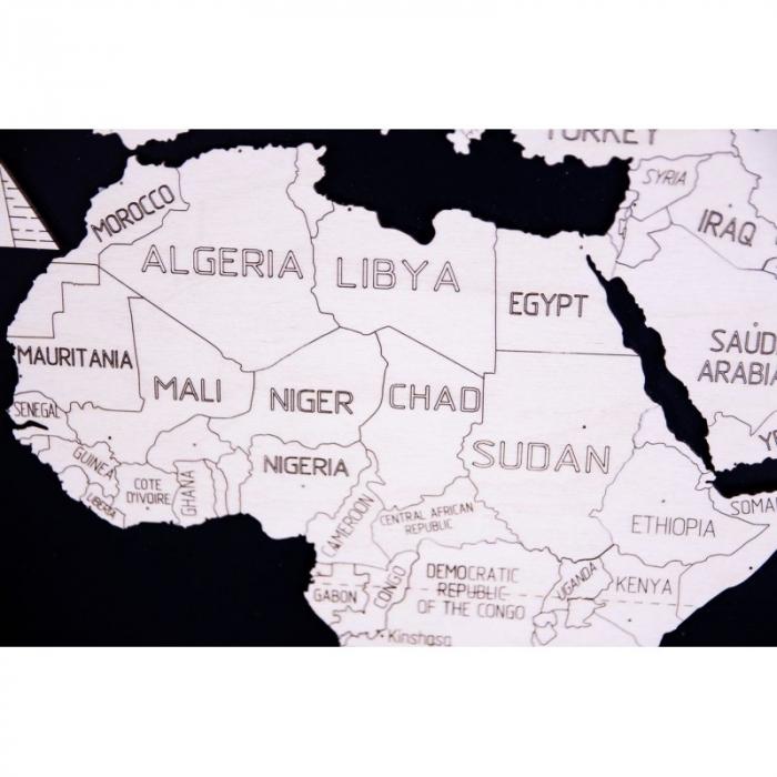 Harta lumii puzzle 3D de perete (XL) 4