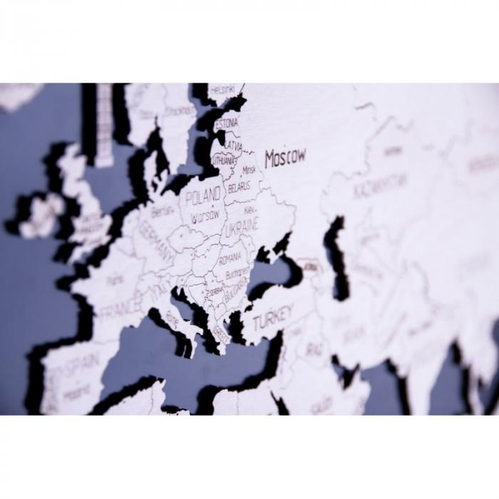 Harta lumii puzzle 3D de perete (XL) 3