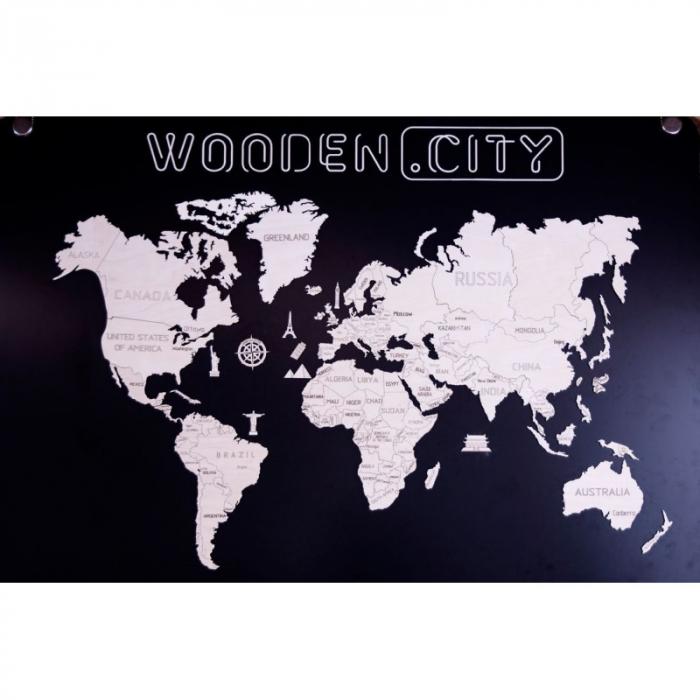 Harta lumii puzzle 3D de perete (XL) 6