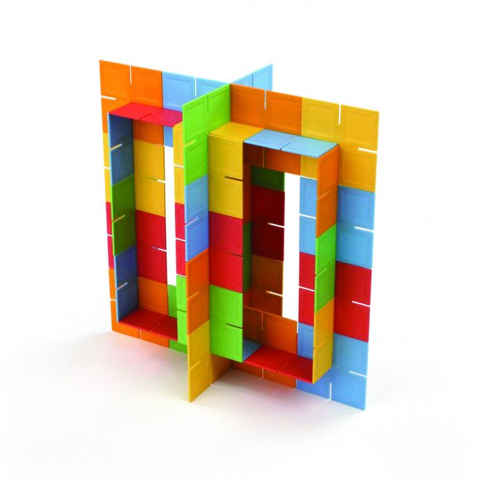 Joc de constructie Patrate DADO Original - Fat Brain Toys 6