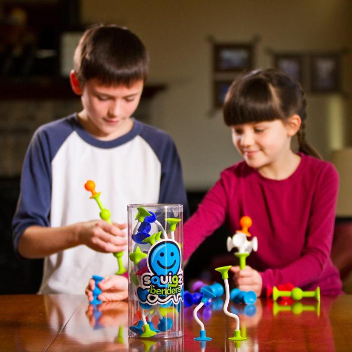 Joc de constructie Squigz Flexi Set - Fat Brain Toys 4