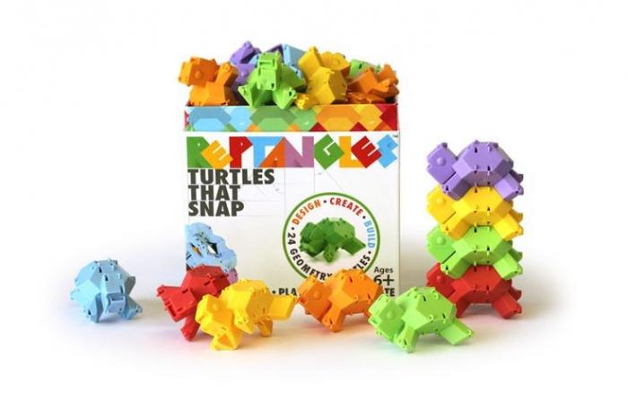 Joc de constructie Testoasele - Fat Brain Toys 7