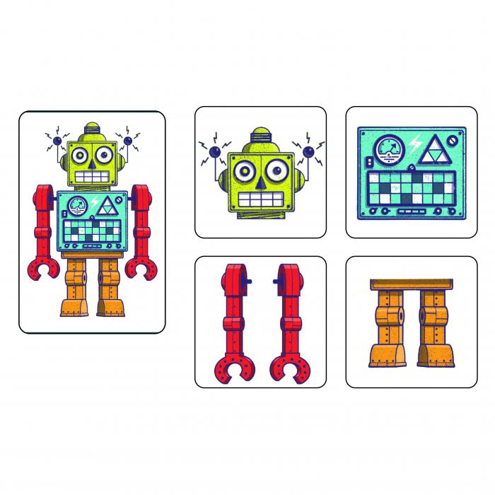 Joc de memorie si cooperare, Memo roboti [1]