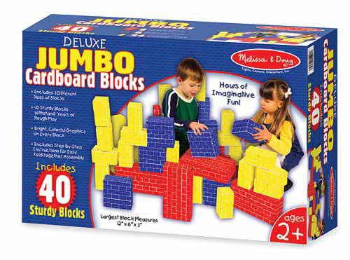 Melissa and Doug - Cuburi carton Jumbo 40 6