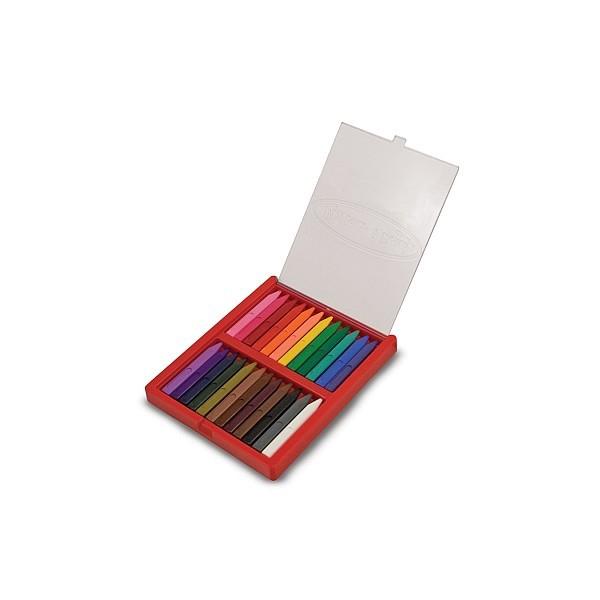 Melissa and Doug - Set 24 creioane colorate triunghiulare 1