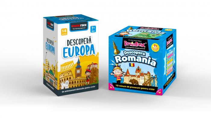 Pachet educativ: BrainBox - Descoperă Romania & MemoRace - Descoperă Europa 0