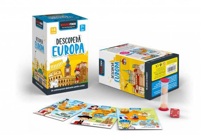 Pachet educativ: BrainBox - Descoperă Romania & MemoRace - Descoperă Europa 2