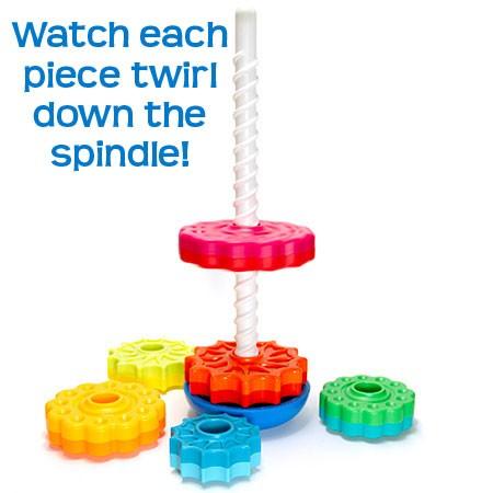 Piramida cu rotite pentru bebelusi - Fat Brain Toys 3