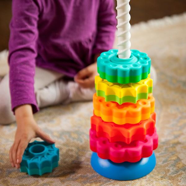 Piramida cu rotite pentru bebelusi - Fat Brain Toys 4