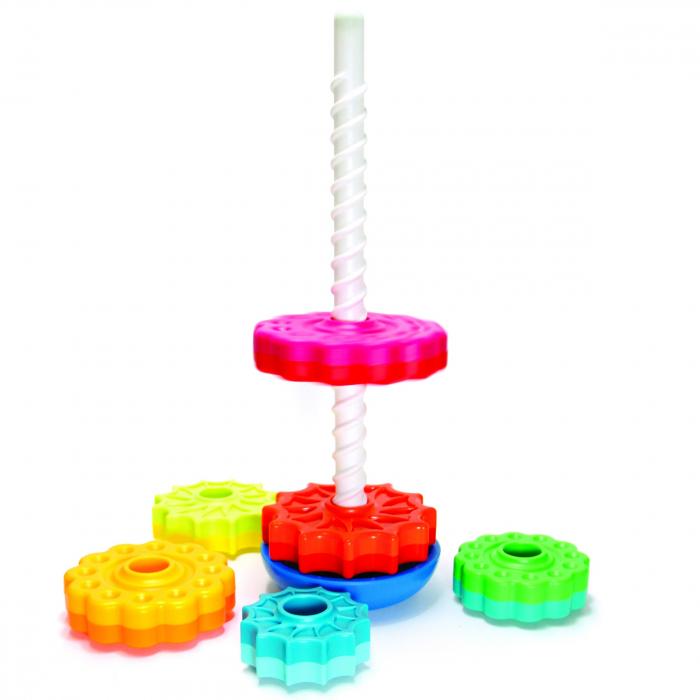 Piramida cu rotite pentru bebelusi - Fat Brain Toys 19