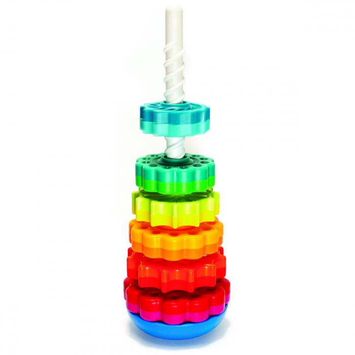 Piramida cu rotite pentru bebelusi - Fat Brain Toys 17
