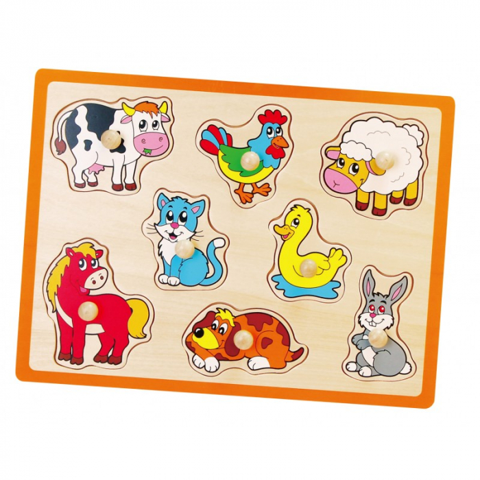 Puzzle cu manere - animale 0