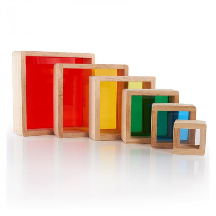 Rainbow Pyramid blocuri de stivuit - Guidecraft 1