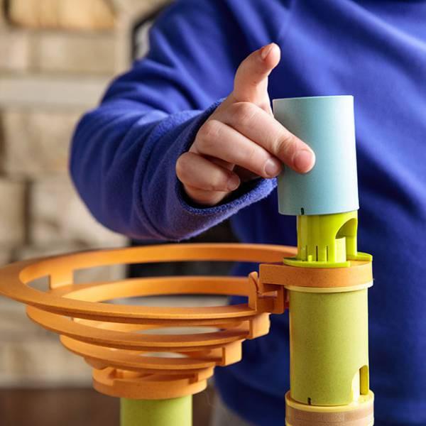 Rollercoaster din bambus cu bile 9
