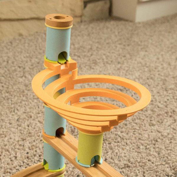 Rollercoaster din bambus cu bile 3