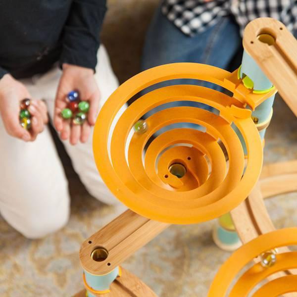 Rollercoaster din bambus cu bile 7