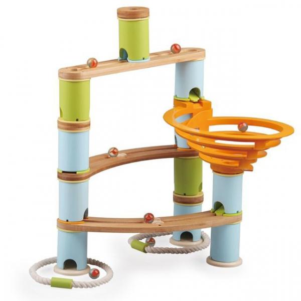 Rollercoaster din bambus cu bile 8