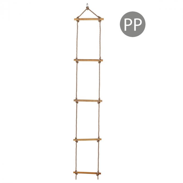 Scara cu trepte de lemn PP 2,5 m (1,80 m) 5 trepte 9