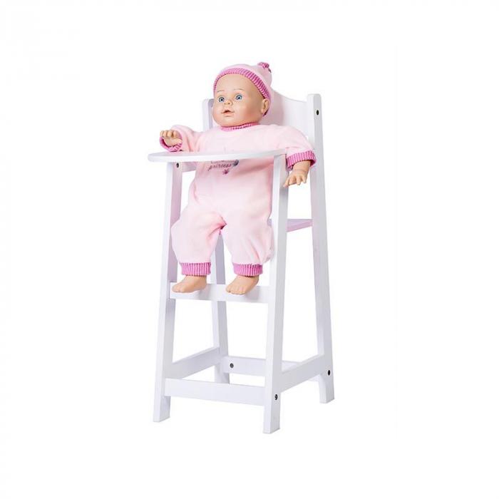Scaun inalt pentru papusi, alb, MamaMemo 2