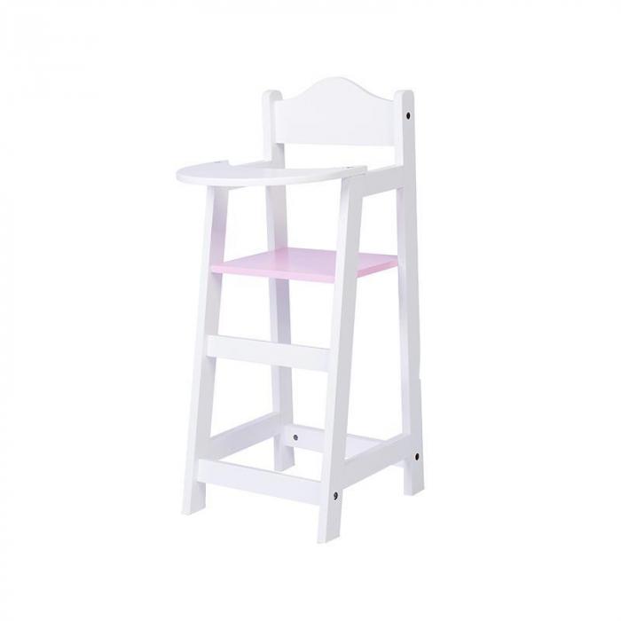 Scaun inalt pentru papusi, alb, MamaMemo 1