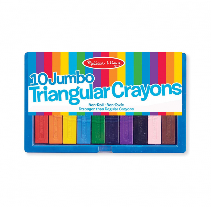 Set 10 creioane groase trunghiulare Melissa and Doug 6
