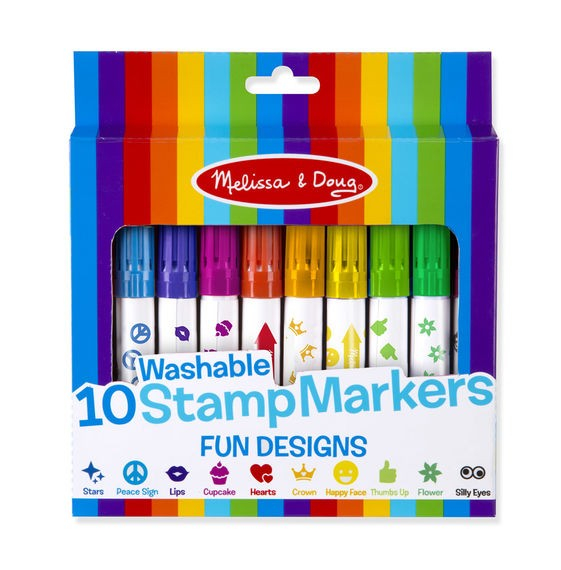 Set 10 stampile marker lavabile Fun Melissa and Doug 0
