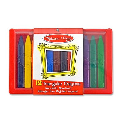 Set 12 creioane triunghiulare Melissa and Doug 2