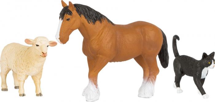 Set 3 figurine Animale de la Ferma 0